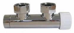 Узел для подключения полотенцесушителя или вертикального радиатора SCHLOSSER duo-plex - 602000004