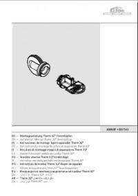Инструкция по монтажу разделительной пробки Therm X2